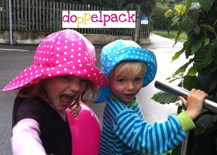 Zwillingsrabatt: Regenhut  mit Nackenschutz Wenden von doppelpack auf DaWanda.com