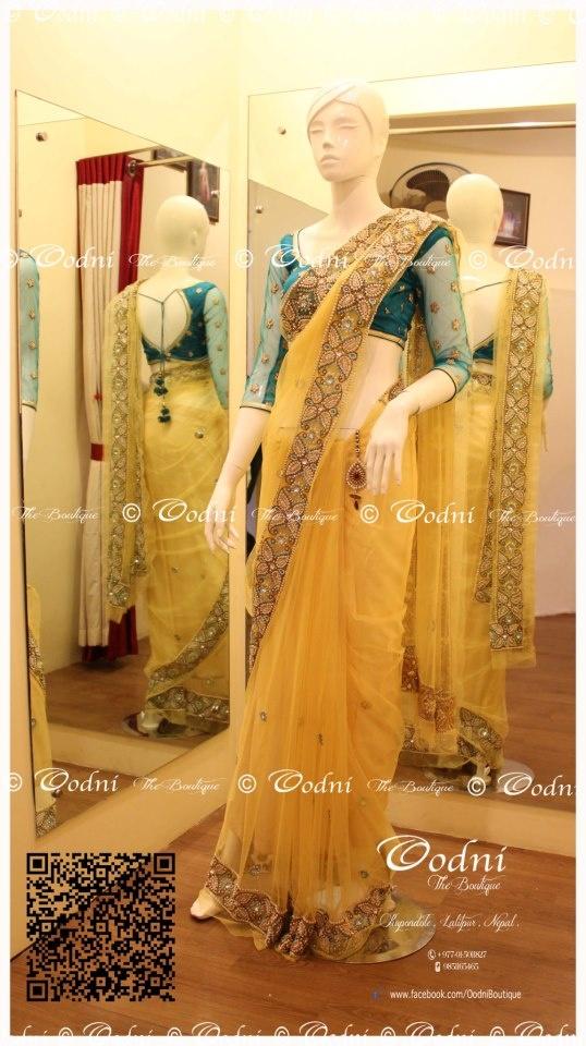 Blouse design for net saree