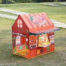 Folding Kid Fun Play House Tent Fruit Shop For Children Indoor Outdoor Girl Gift