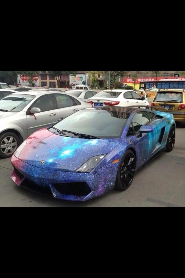 Lamborghini Gallardo With A Galaxy Paint Job I Am Doing This.