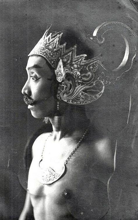 Indonesia ~ Wayang Wong Dancer - 1935 Java Indonesia