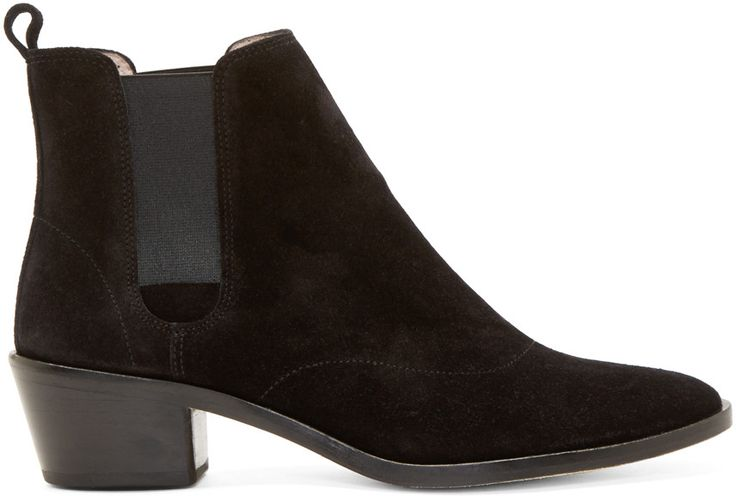 Repetto - Black Suede  Heeled Auguste Boots