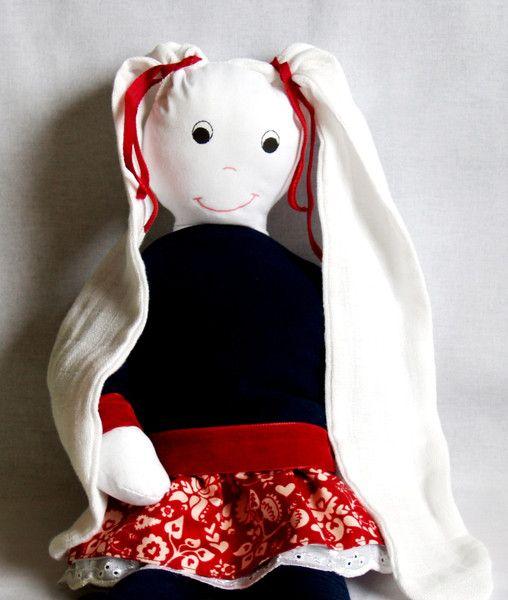Pujapka  dziewczynka, przytulanka tetrowa w Pujapka na DaWanda.com