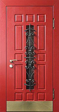 Красная входная дверь, красные входные двери, двери входные красные заказ