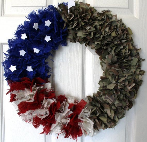 1 in stock READY TO SHIP :)  This listing is for the multi cam print. For different prints please look at the other wreaths in my shop and/or message me :) If you have a screen door this wreath will fit perfectly! Approximate size: 19 by 19  *** Check out my ARMY WREATH here! : https://www.etsy.com/listing/400964079/army-wreath-camouflage-wreath-4th-of?ref=shop_home_active_5  All wreaths are made in a smoke free, cat friendly home <3 <3 CUSTOM ORDERS...