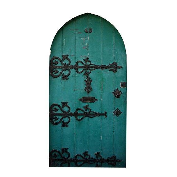Green fairy door design 2 vinyl wall decal bedroom for Fairy door for bedroom