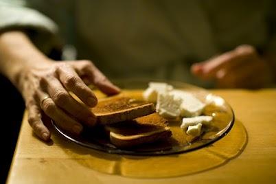 Toast and Sirene (a certain kind of Bulgarian brine cheese)    Photographer: Serge Ivanov