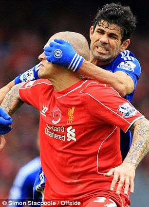 Costa is a thug.  Can, Coutinho, Sterling & sometimes Balotelli all moved about well. Liverpool downed again, but the performance gives hope. LFC 1 - 2 Chelsea, Nov 8, 2014