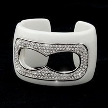 Stunning acrylic bangle, also come in Red and in Black.