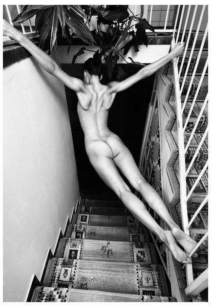 Helmut Newton photo.  Bedroom.