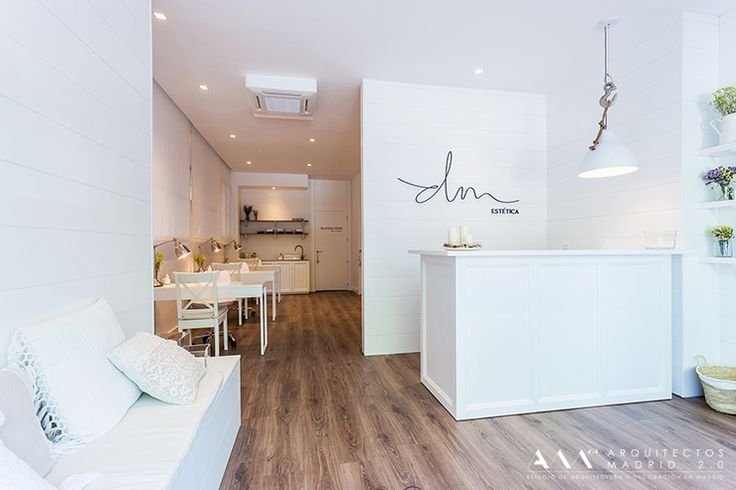 Ideas de #Salón de belleza, estilo #Contemporaneo color  #Marron,  #Blanco, diseñado por Arquitectos Madrid 2.0  #CajonDeIdeas