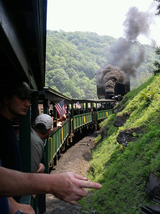 Take a trip to Cass WV. Take a ride on the train and ya get a history lesson with it too!