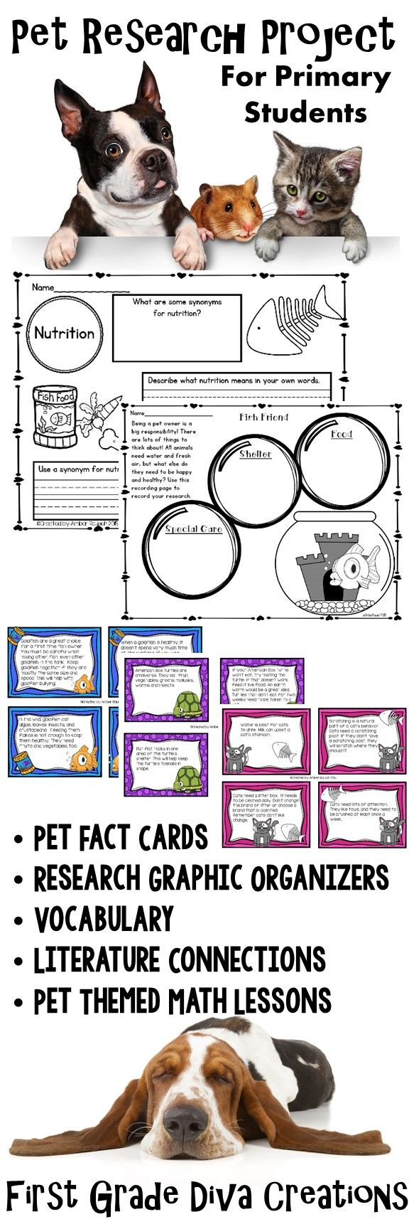 $ Looking for a highly engaging research project for kids? Kids love pets, and my students were very motivated to research and write about a pet that was just right for them. This unit was a so much fun to teach in my own classroom. Grab it for your classroom today!