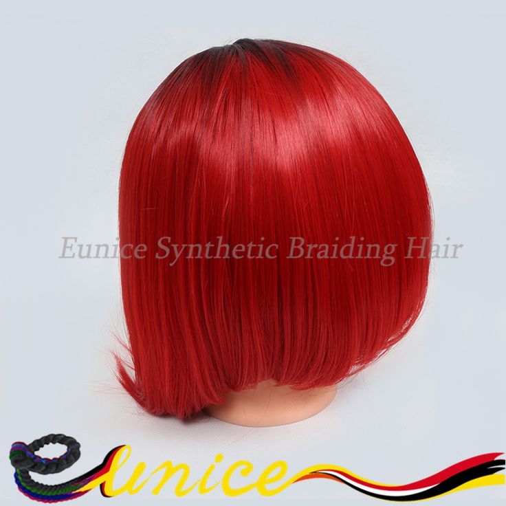 Find More Synthetic Wigs Information about CHEAP short synthetic hair wig ombre red hairstyle machine made afro cosplay bobo hair extnesions party girl two tone braizilian,High Quality hair crochet,China hair wigs uk Suppliers, Cheap wig party from Eunice synthetic braiding hair on Aliexpress.com