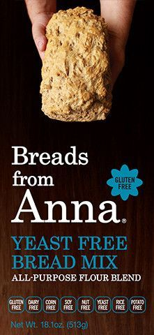 Yeast free, dairy free, gluten free, nut free, bread mix