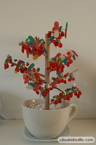 how to make a candy tree Fabriquer un arbre à bonbons
