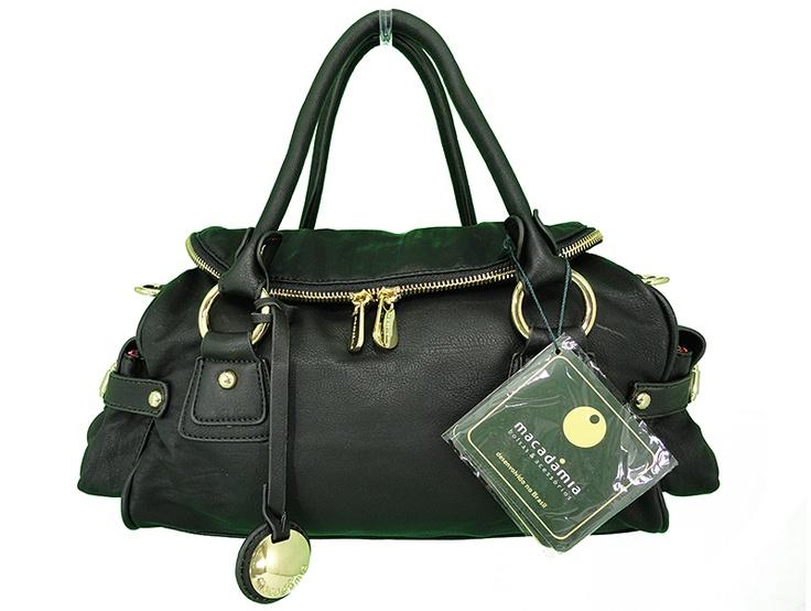 Bolsas Macadâmia | Bolsas Feminina Macadâmia MCB02019 Preta  - Veja este e mais outros modelos em nosso site:  http://www.spbolsas.com.br