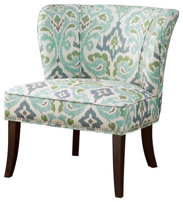 Co Darby Home Zhora Wingback Chair Accent Chairs Geometric