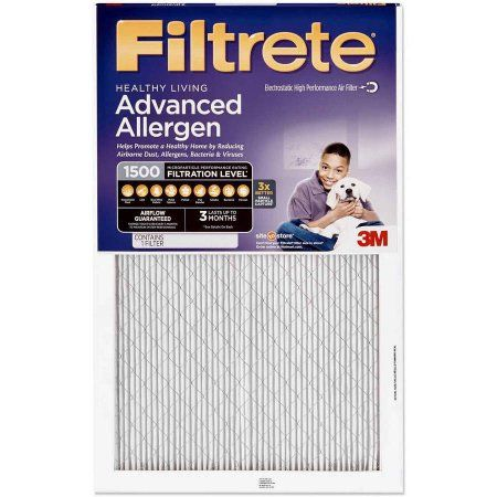 Filtrete Advanced Allergen Reduction Air and Furnace Filter, Available in Multiple Sizes