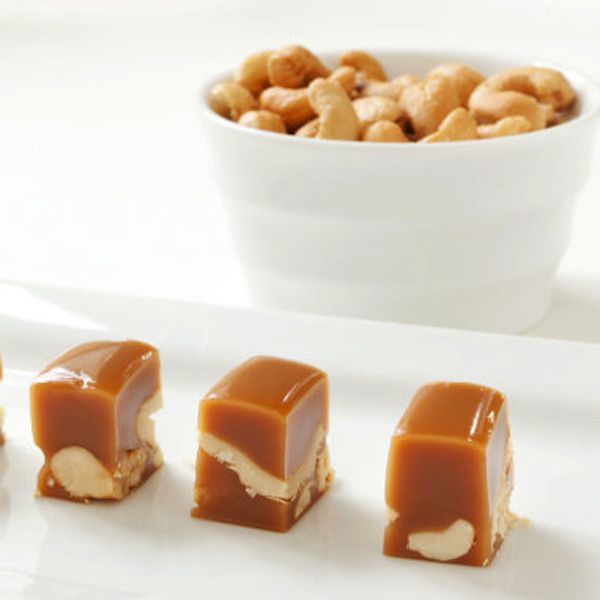 Cashew Vanilla Caramels   $14. These are perfect for the nut and caramel lovers that like a little savory with their sweets! Available at: manykitchens.com