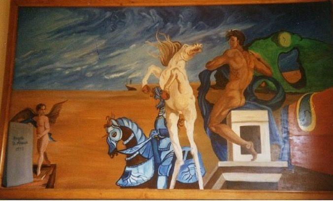 Olio su legno mix Dali' Michelangelo