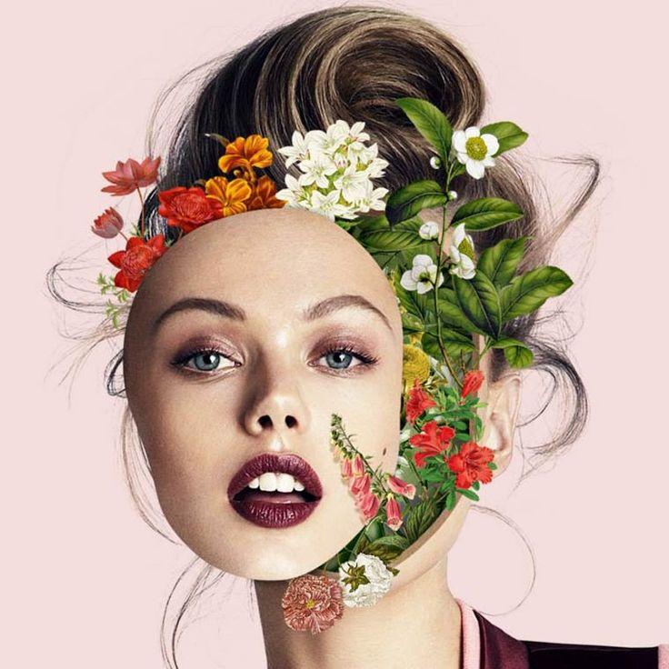 La série Faces [UN]bondedde l'artiste brésilienMarcelo Monreal, qui explosedes portraits de célébrités et de top models, dévoilant des éléments de