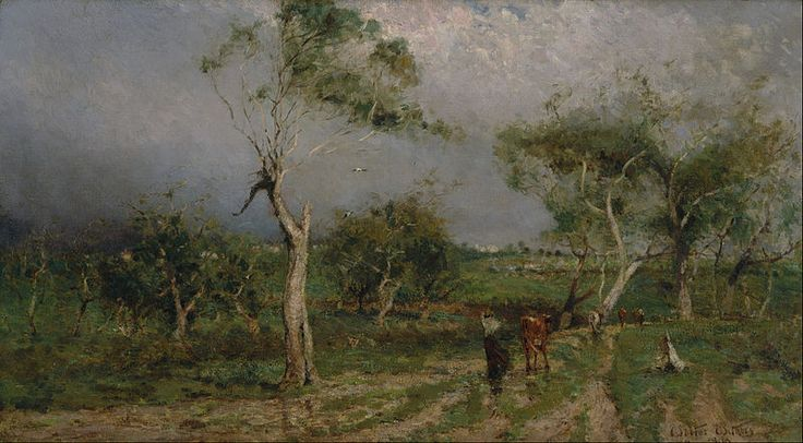 Withers, Walter, (1854-1914), The storm, 1896, Oil