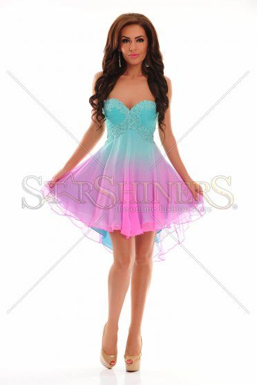 Sherri Hill 11064 Aqua Dress