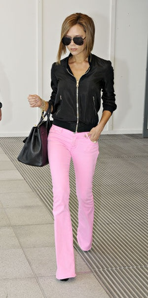 light pink pants are perfect!