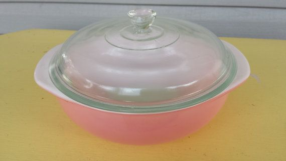 Vintage 2 Qt #024 Flamingo Pink Pyrex Casserole Dish with Lid on Etsy, $16.50