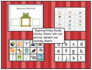 Freebie: Beginning & Ending Sound Printable Stations (LOVE!)