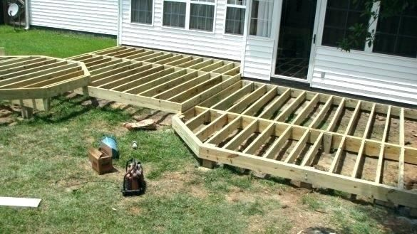 Deck Designs Low To Ground Building A Deck Frame Patio Deck