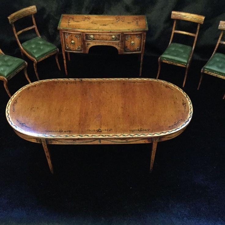 Artisan Alan Barnes (Tarbena) Set Of 5 Hand Painted Chairs | eBay