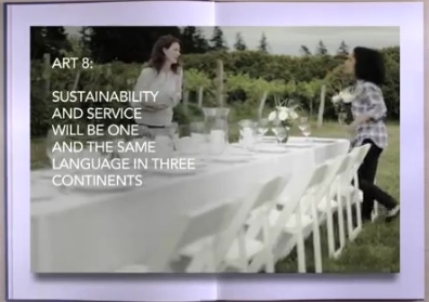 ART 8: Sustainability and service will be one and the same language in three continents.