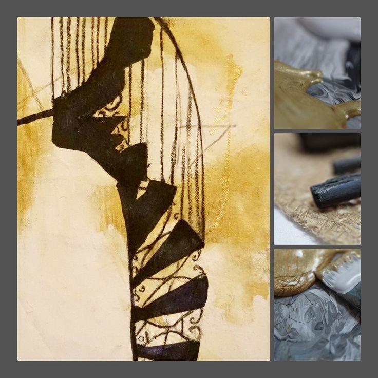 Werkreihe: Licht und Schatten Die Schattenkonstruktionen sollen den Betrachter einladen, stufenförmig die Aspekte der Stiege zu beleuchten. Der Schatten kann die Antwort spiegeln, die sich j…