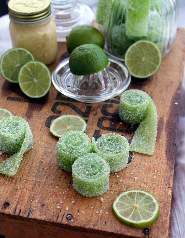Syrliga Limeremmar | Fridas bakblogg Sour lime candy strips