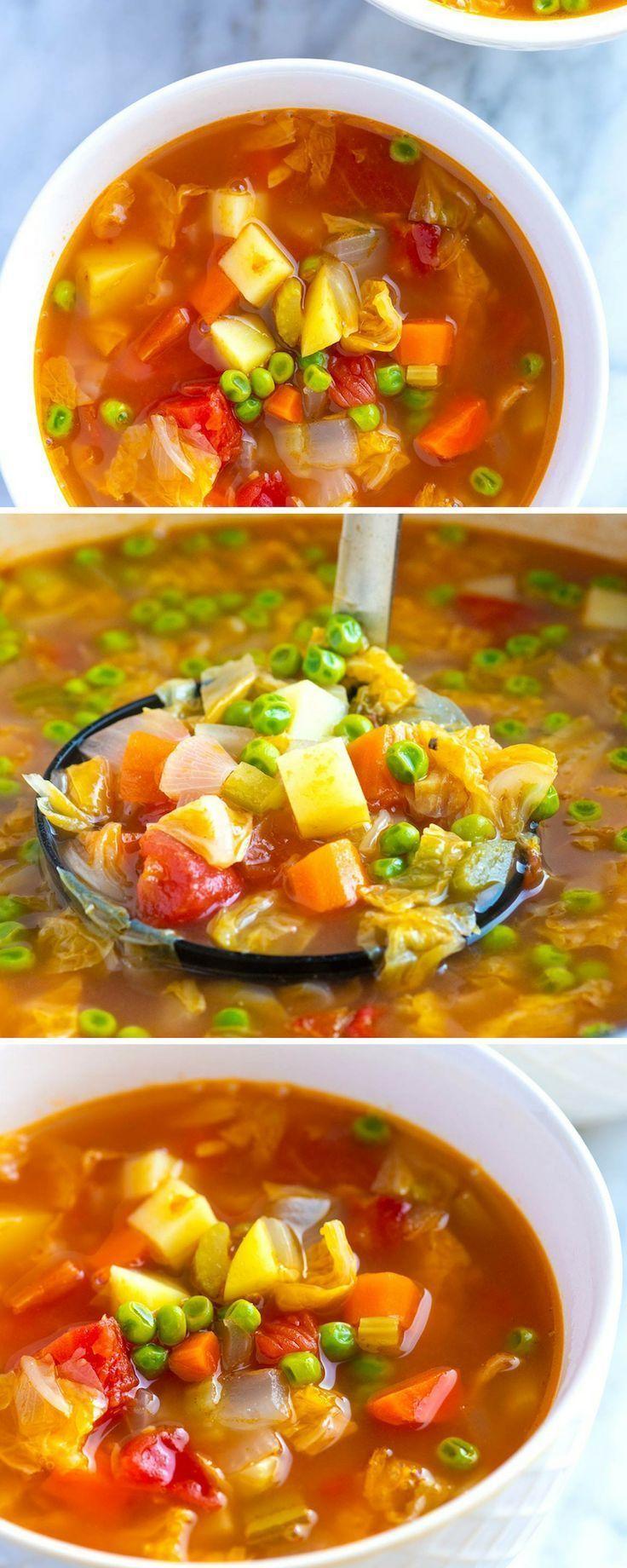 Easy Homemade Vegetable Soup Recipe Easy Vegetable Soup Vegetable Soup Recipes Homemade Veggie Soup