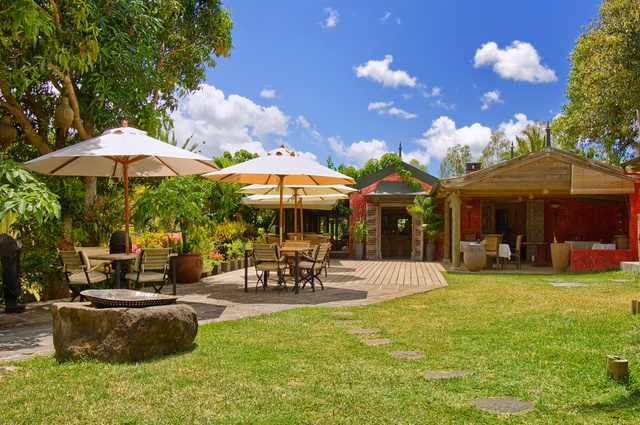 Welcome to the Restaurant of Lakaz Chamarel, in Mauritius.