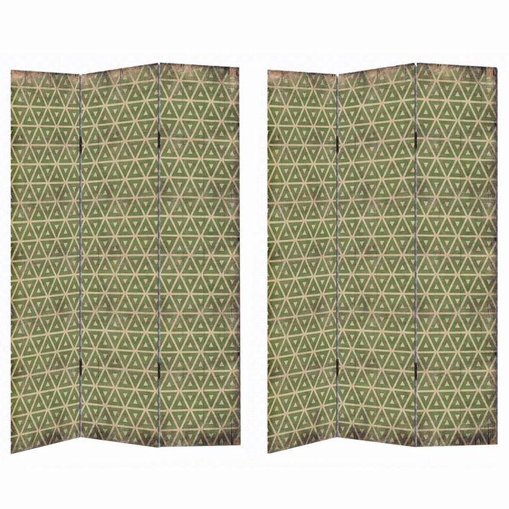 Biombo plegable moderno verde de lienzo para salón Bretaña: Amazon.es: Hogar