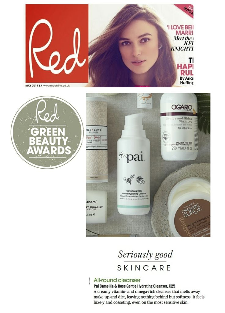We're absolutely thrilled that Red Magazine have voted our Camellia  Rose Cleanser 'Best All-Round Cleanser' in their Green Beauty Awards!