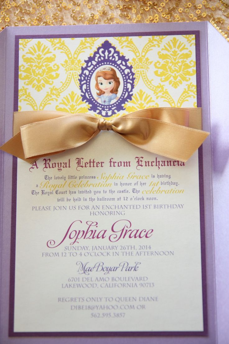 Sophia+The+First+inspired+birthday+Royal+Celebration+by+papercrew,+$120.00