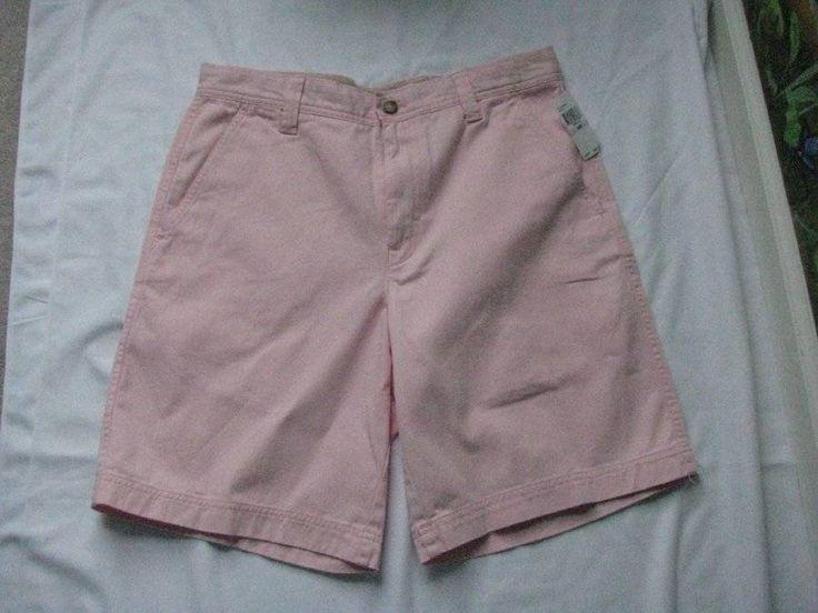 IZOD Saltwater Pink Men Cotton Shorts Size 32W NWT MSRP $48 #IZOD #CasualShorts