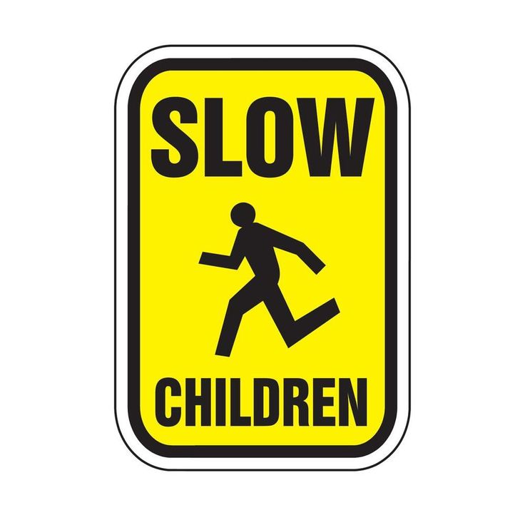 Regulatory Signs - Slow Children Reflectorized, Black And Yellow