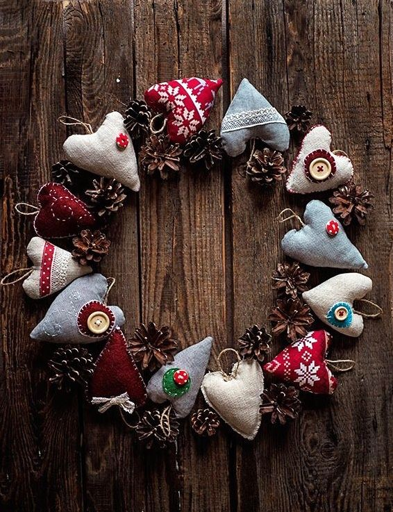 christmas door wreaths 18 craft ideas with cheap. Black Bedroom Furniture Sets. Home Design Ideas