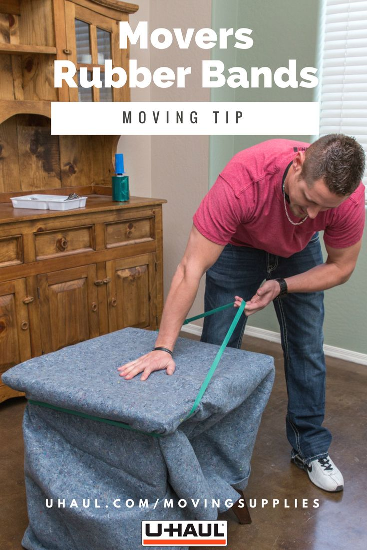 Moving Tip: Movers Rubber Bands Can Secure Furniture Pads And Quilted Pads  Around Household Objects On Moving Day. Click Through To Order Yours, ...