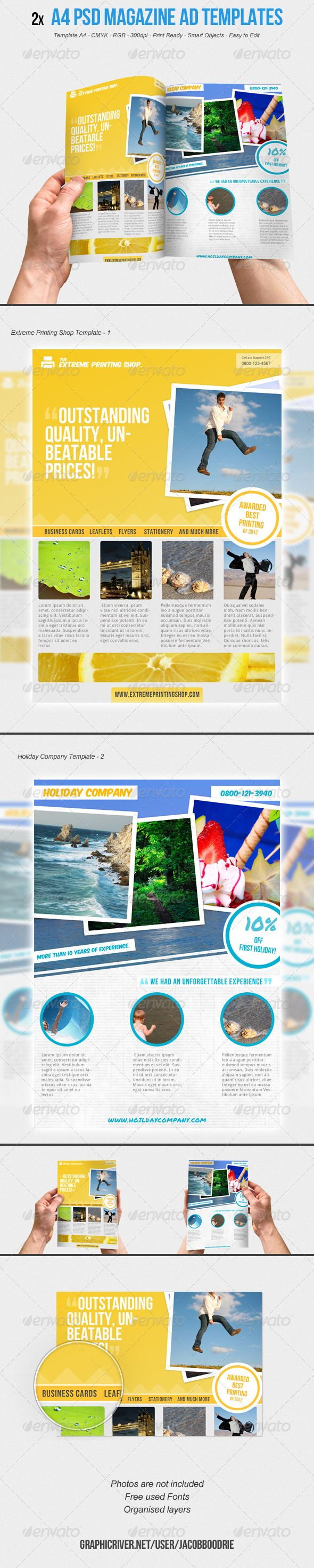 17 best images about ad templates car dealers 2x a4 magazine ad template vol 1