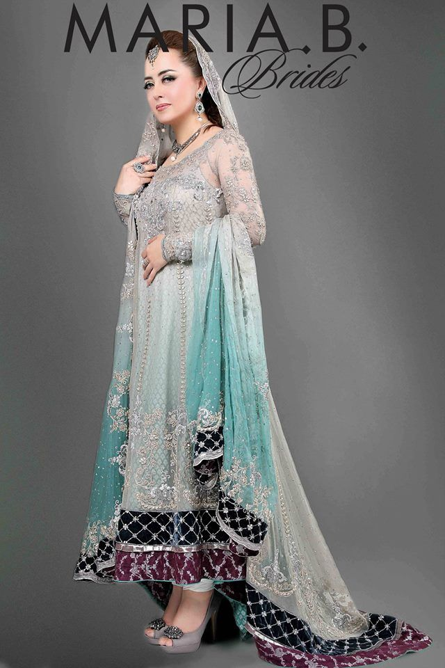 Beautiful Grey Walima Dresses Collection 2015 For Bridal (3)