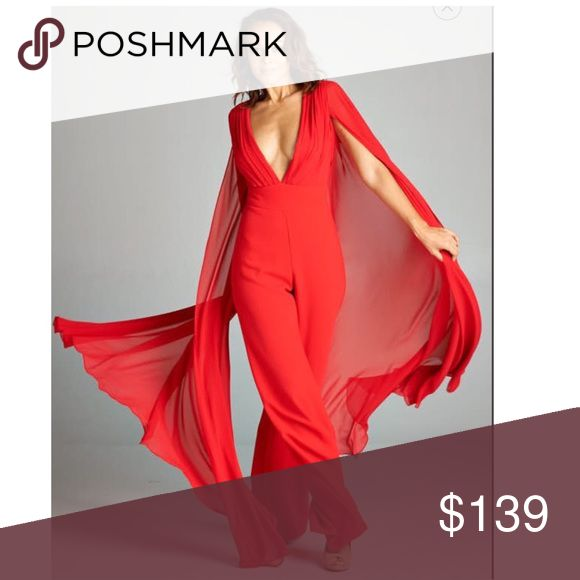 Red jumpsuit with wings Ditch the little black dress for a daring jumpsuit this season! Visit our website for more information. www.zemastyle.com AG Studio Dresses Maxi
