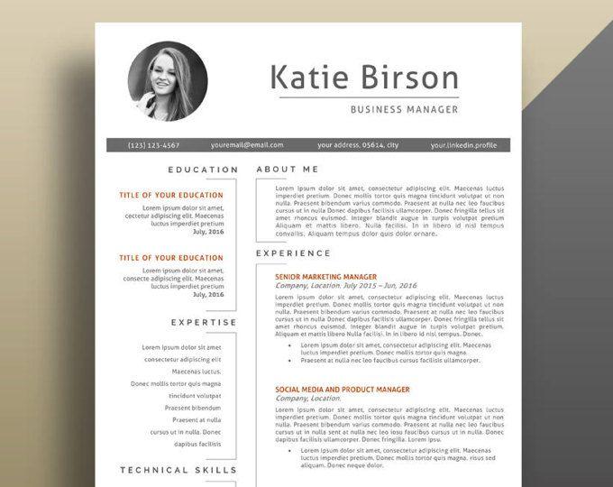25 best ideas about Modern resume template – Modern Cv Template