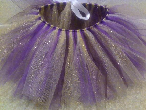 Purple and Gold Huskies Tutu by LittleShopofTulle on Etsy, $16.00